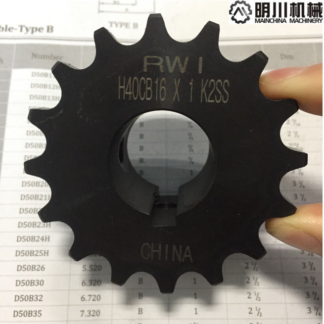 45C Black Color Finished Bore Sprockets With High Frequency H40CB16X1 K2SS