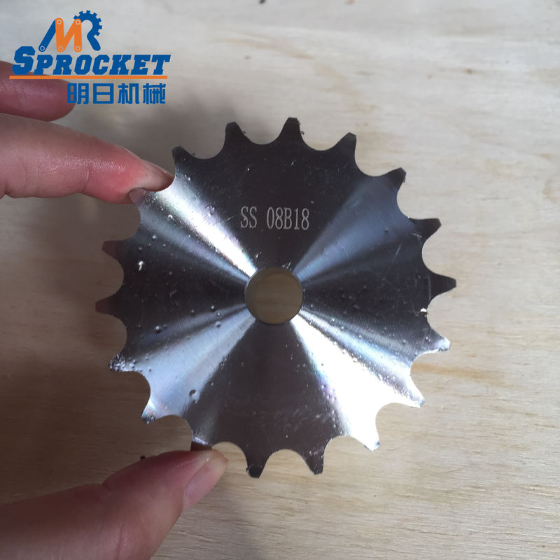 304 08B18T Stainless Steel Sprocket European Standard Nature Color