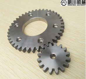 Simplex Row Straight Bevel Gear , 304 Stainless Steel Spur Gears Silver Color