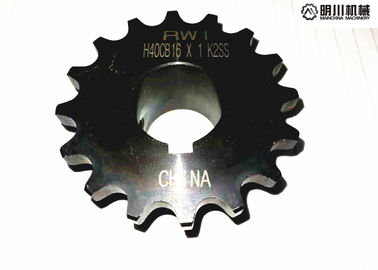 High Precision C45 Steel Finished Bore Sprockets Blacken Surface Finish