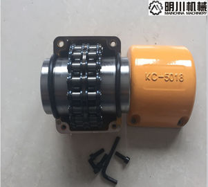 China Standard 45C 5018 Roller Chain And Sprocket Coupling Yellow Galvanized Surface factory