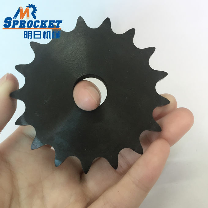 Industrial Plate Wheel Chain Sprocket 40A17T Black Color 45C Material
